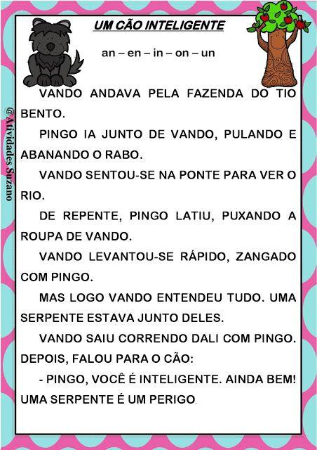 Textos para alafabetização - Atividades Adriana