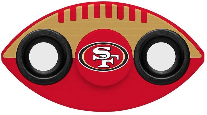 San Francisco 49ers Diztracto Two-Way Football Fidget Spinner Toy