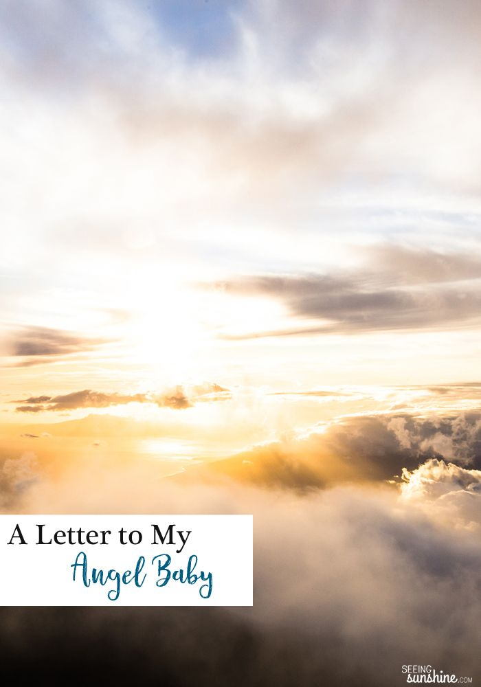 This is a letter I wrote to the baby I miscarried in January. Today would have been my due date.