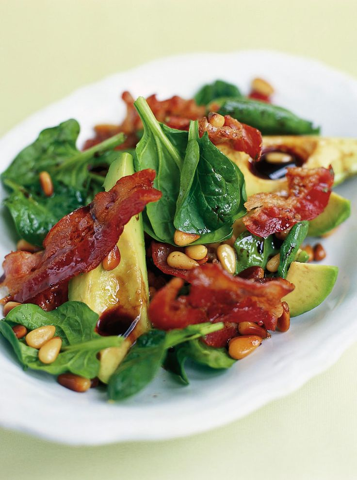 avocado, pancetta  pine nut salad | Jamie Oliver | Food | Jamie Oliver (UK)