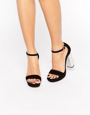 Замшевые сандалии на каблуке и платформе Dune Mercurie