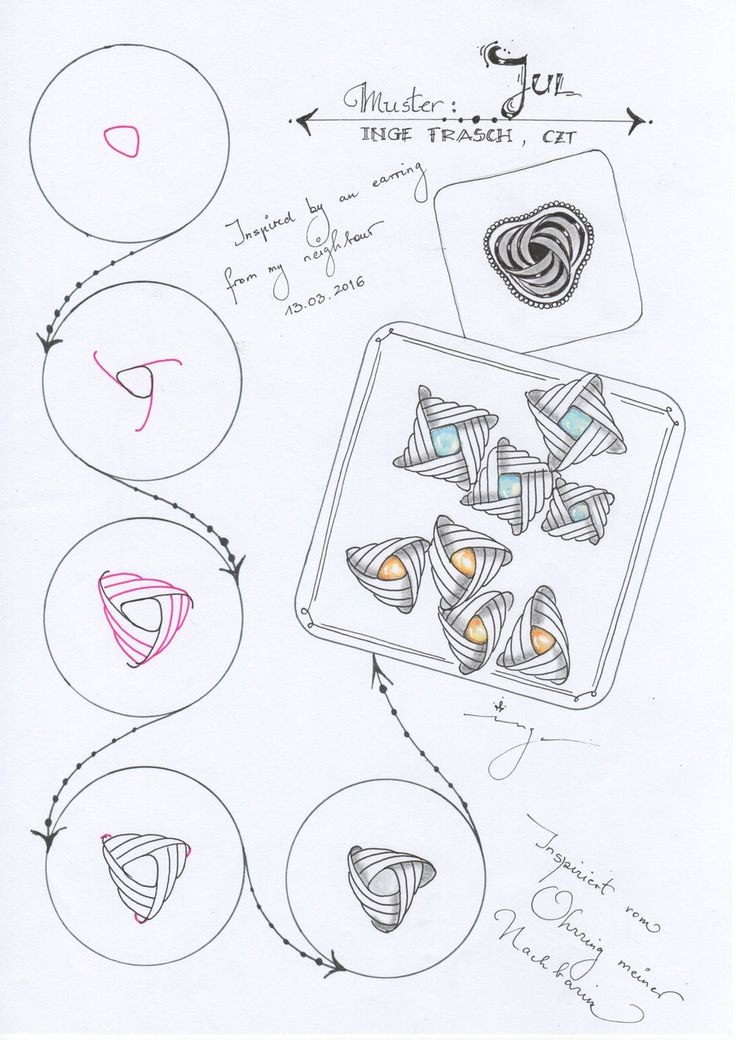 Tangles/Muster created by Inge - musterspiele.jimdo.com