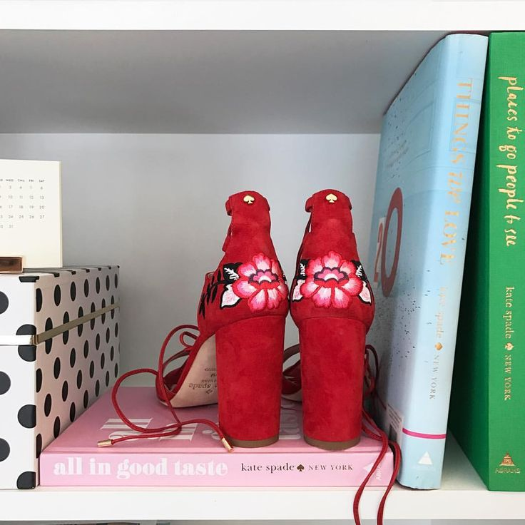 """19.7k Likes, 75 Comments - kate spade new york (@katespadeny) on Instagram: """"haven't worn these oasis heels yet. they're desk decor."""""""