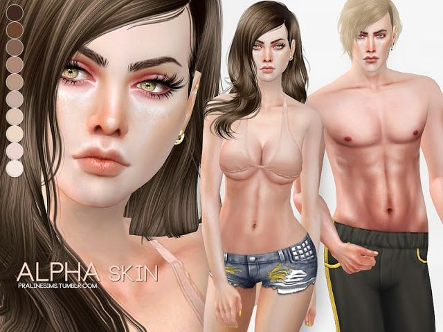 Sims 4 CC's - The Best: Alpha Skin by Pralinesims
