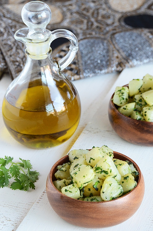 "Potatoes with Herbs and Garlic from @Faith Martin Gorsky Safarini new cookbook ""An Edible Mosaic: Middle Eastern Fare with Extraordinary Flair"" via @Magicalspice/The Ardent Epicure"