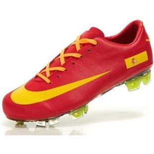 http://www.asneakers4u.com Mens Nike Mercurial Vapor SuperFly III Elite FG Safari Spain Soccer Team Cleats In Red Yellow