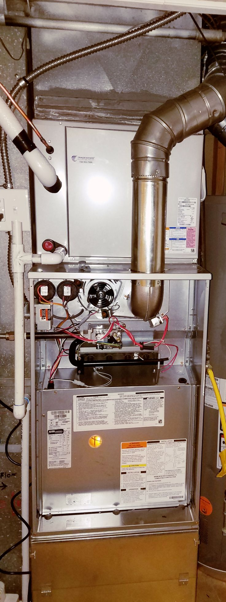 Furnace Installed by Tradewinds Heating and Cooling, Inc. in Wheat Ridge Colorado! Call at 720-363-7600 for an estimate.