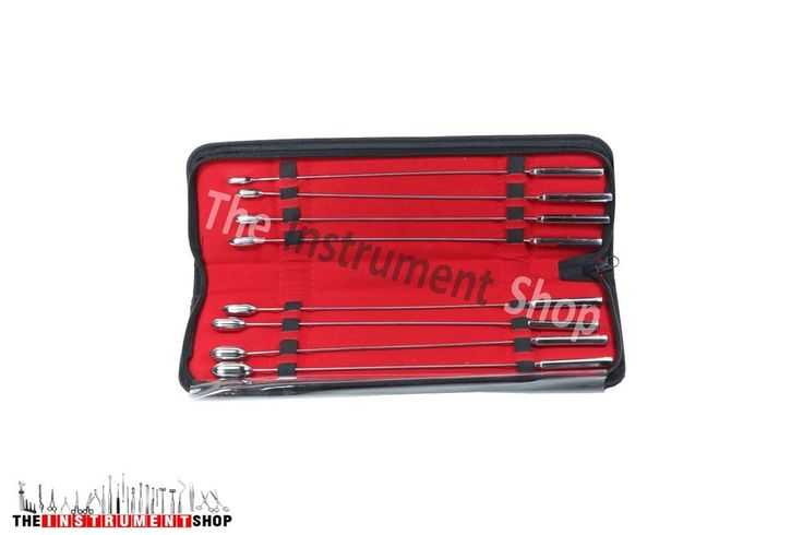 Bakes dilators Urethral Sounds Common Duct Dilator Set of 8 + Free Pouch