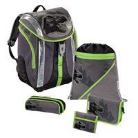 Školský ruksak - 5-dielny set, SBS Flexline Dino, certifikát AGR