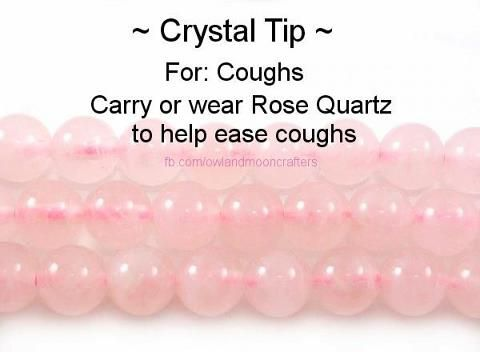For coughs, Rose Quartz Healing Crystal. Physical and Emotional Heart, Circulation, Love