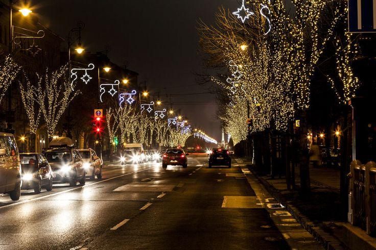 Budapest, Andrássy út,  karácsony