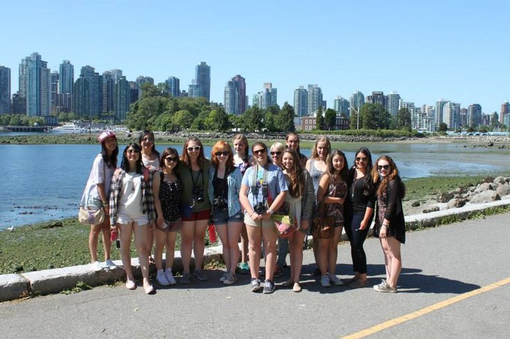 Students at the Rocky Rewards trip on Granville Island, Vancouver