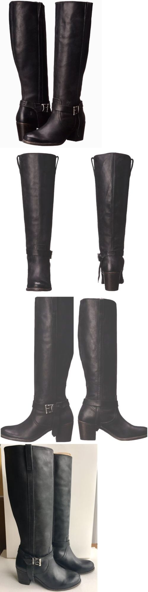 Women Boots: Frye Womens Malorie Knotted Tall Riding Boots, Size 6.5M Black BUY IT NOW ONLY: $130.0