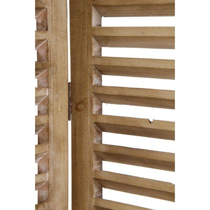 Biombos de madera vintage biombo haya natural muebles for Muebles y decoracion madrid