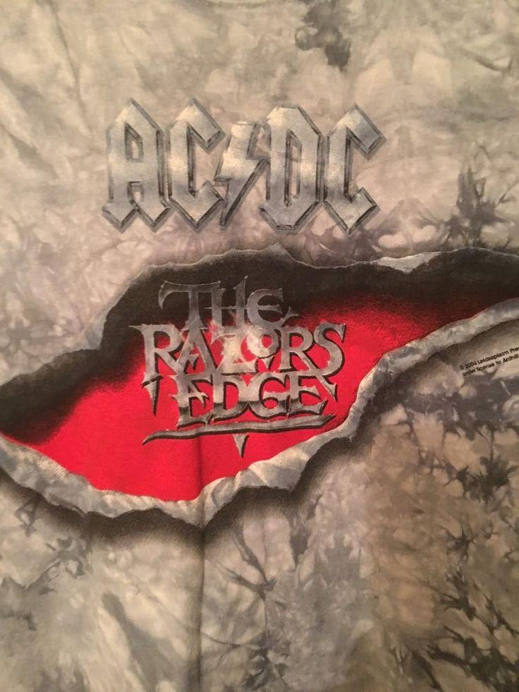 AC/DC RAZORS EDGE Tshirt 2 Sided Size Large Exc. Cond. TIE DYED RARE  | eBay
