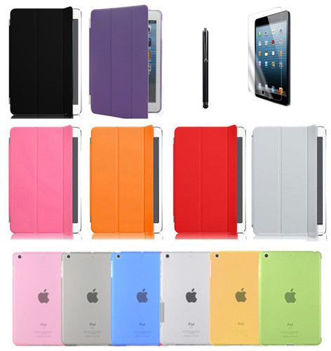 Premium Smart Case for Apple iPad Mini Front & Back Protective Case Stand Cover