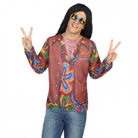 Camiseta de Hippie para Hombre #Disfraz #Costumes #Despedidas