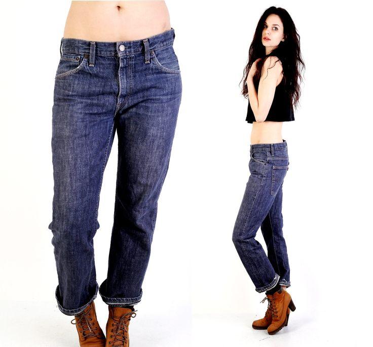 #Vintage #Levi's #507 #W32 #L32 #Navy #Blue #Men #Boyfriend #Jeans by #Ramaci on Etsy