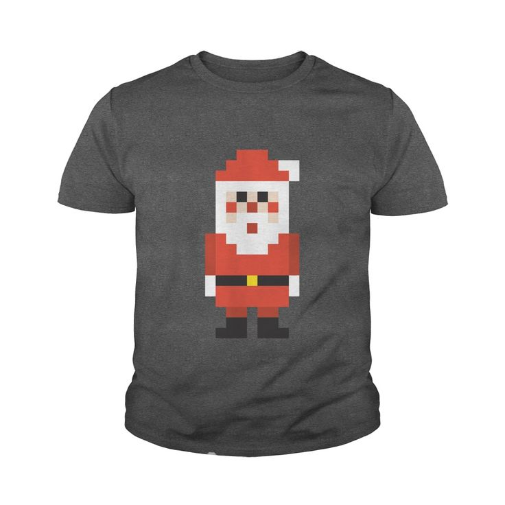 Pixel Santa Claus Funny Youth Tee - https://www.sunfrog.com/118037483-530997775.html?68704