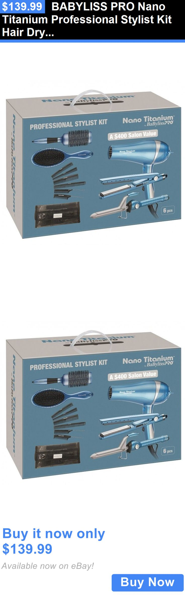 Hair Beauty: Babyliss Pro Nano Titanium Professional Stylist Kit Hair Dryer, Flat Iron, Curli BUY IT NOW ONLY: $139.99