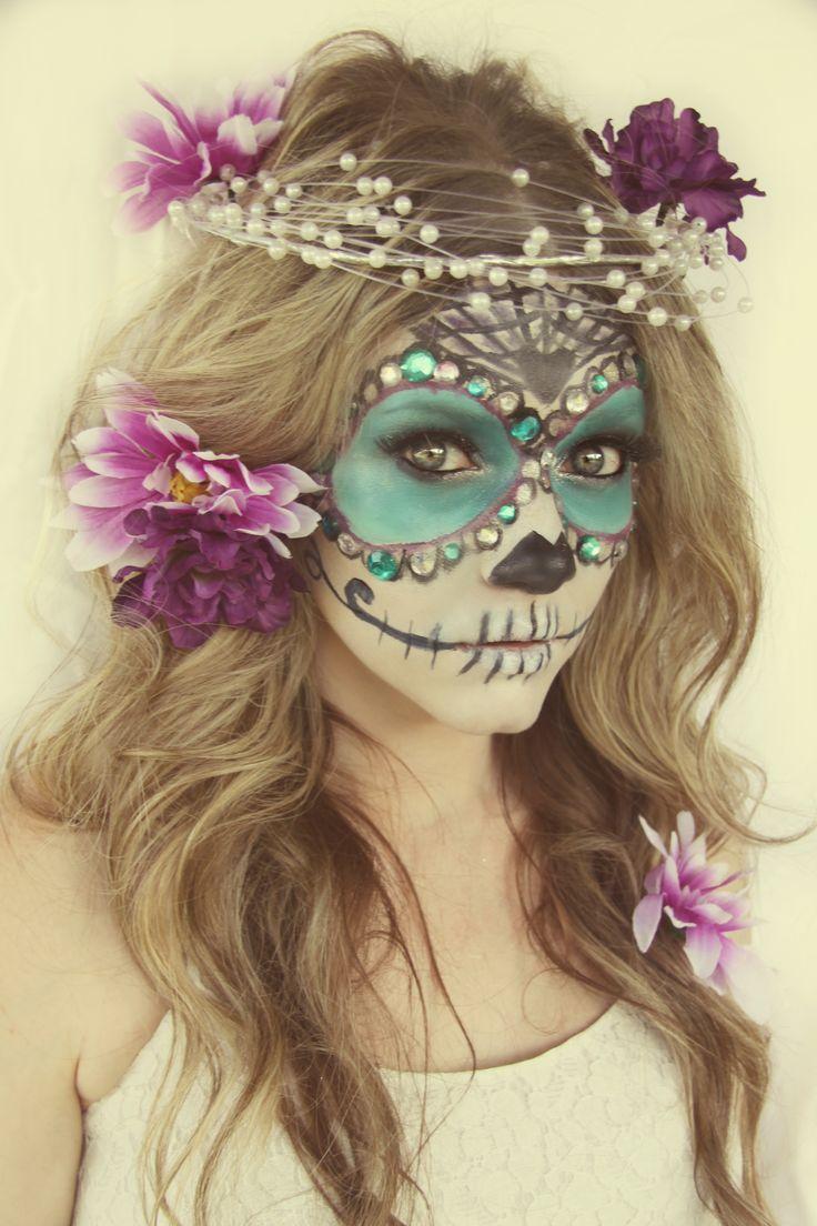 -paste jewels around eyes-   30 Diy Halloween Costume Ideas