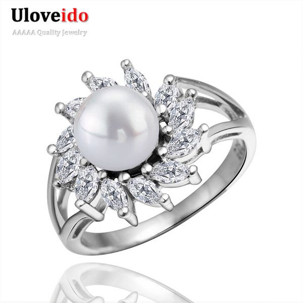 Find More Rings Information about Big Fashion White Cubic Zirconia Simulated Pearl Rings For Women Engagement Ring Summer Style Crystal Jewelry 2015 LR010,High Quality ring wrench,China ring underwear Suppliers, Cheap ring lighting factory shop from Ulovestore Fashion Jewelry on Aliexpress.com