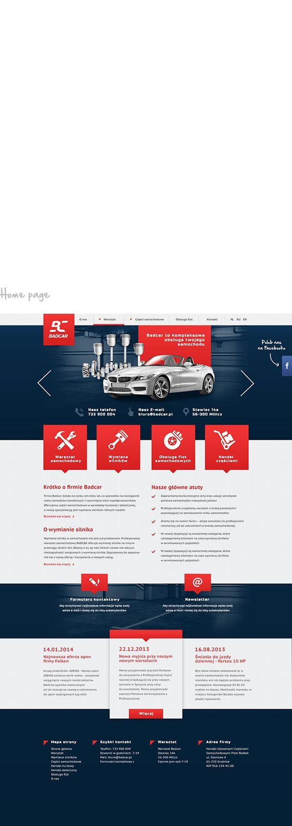 "Badcar - Automobile repair shop by Patryk ""Biały"" Białas, via Behance"