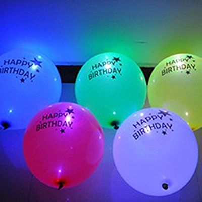 LED Happy Birthday Balloons