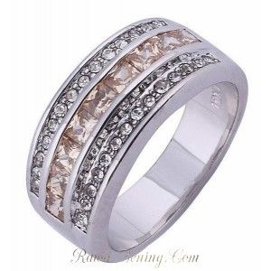 Cincin Pria White Gold Filled Ring 10 USA (diameter 19.8mm)
