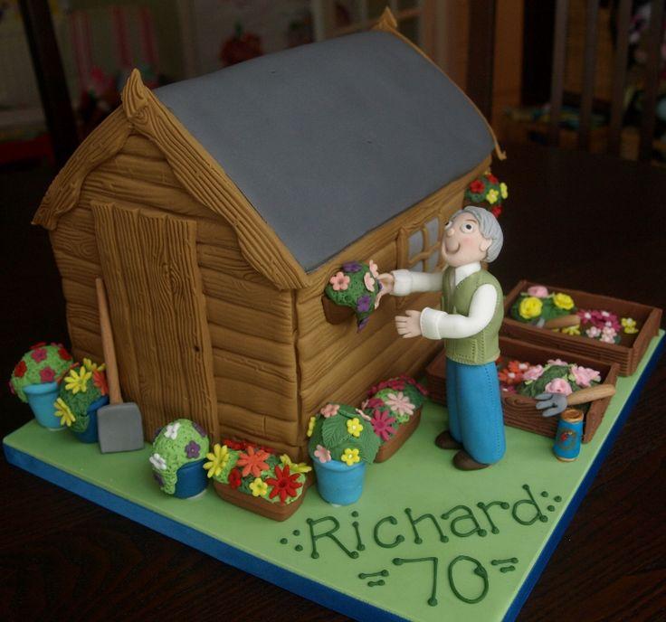 Garden Design Birthday Cake 7 best bri 70th images on pinterest | garden cakes, novelty cakes