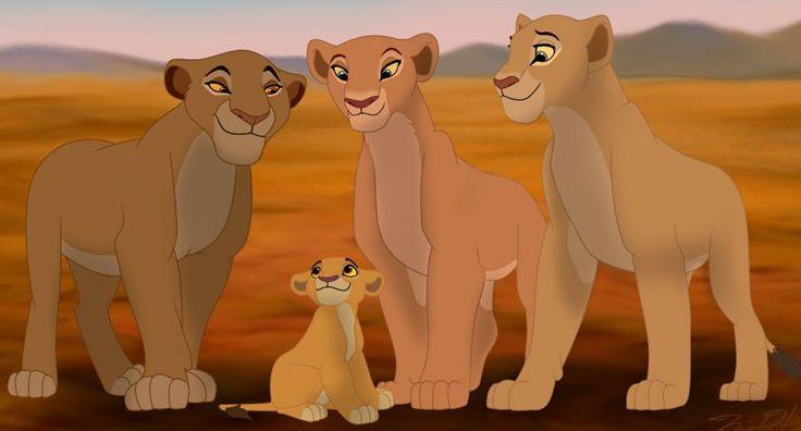 Sarabi, Kiara, Nala, and Sarafina