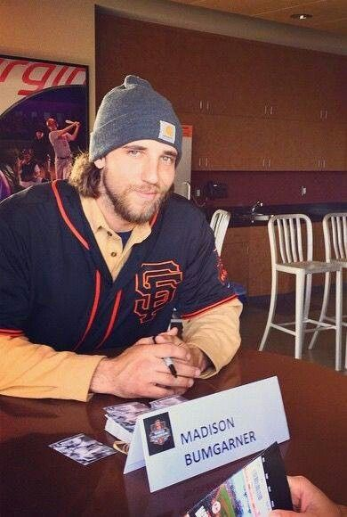 Madison Bumgarner - Ummm...Like he needs a sign to tell people who he is??!?