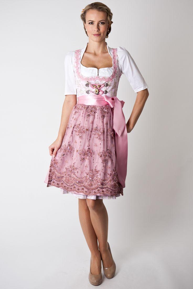 Trachten Dirndl Amy, midi, rosa | Munich | Dirndl, Dirndl ...