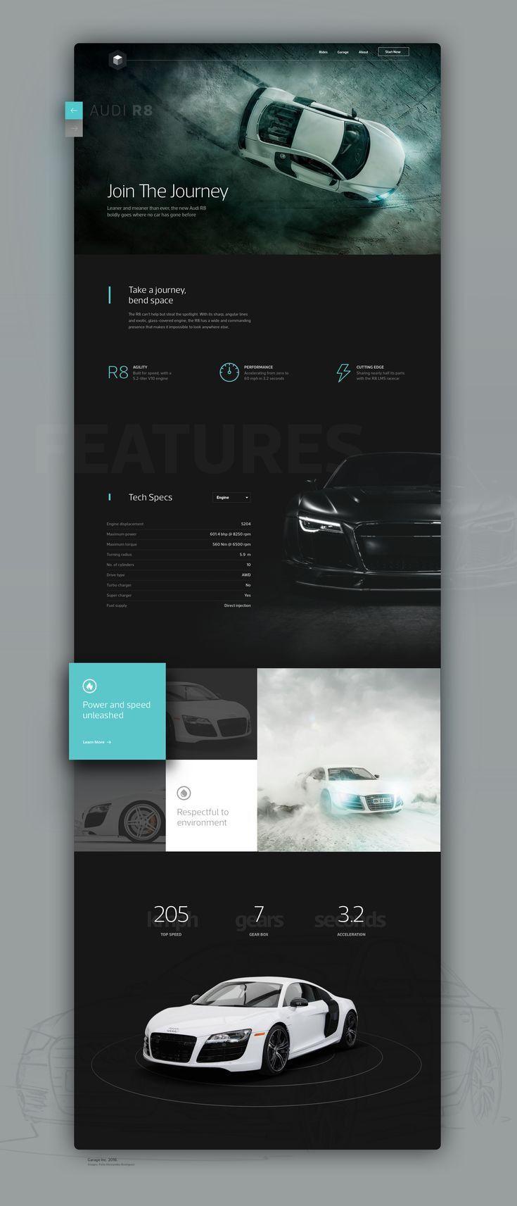 Plantilla de sitio web de Audi car   – web design inspiration