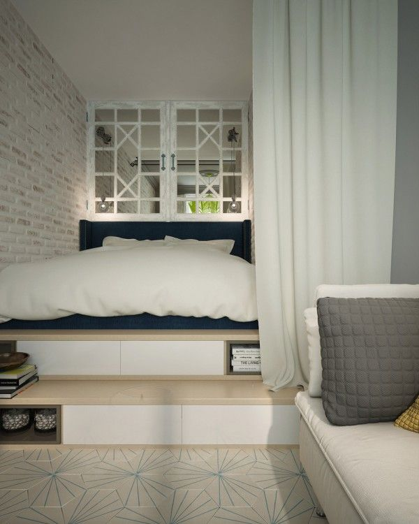 Home Designing — (via A Pair Of Super Small Apartments With...