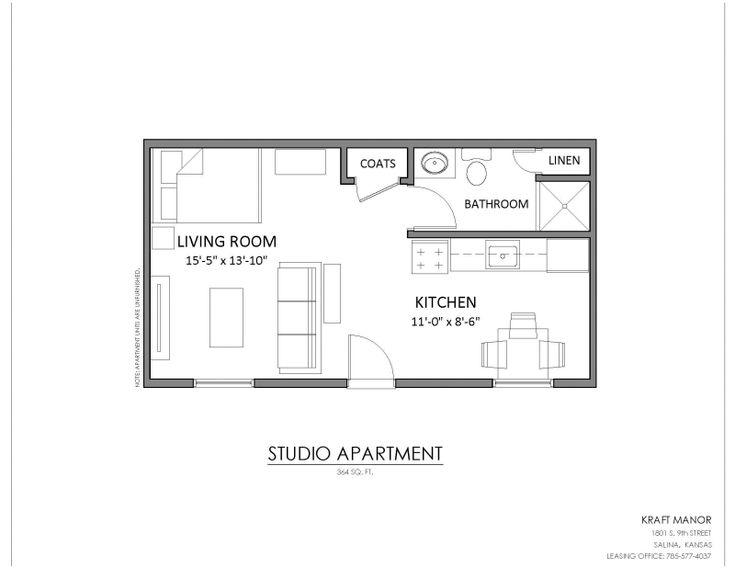 Image result for 350 sq ft studio floor plan Studio