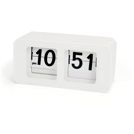 This Retro Flip Clock combines a delightful touch of 70s nostalgia with efficient, up-to-date timekeeping. Its clean, attractive design looks good wherever you place it—it can even be wall mounted.