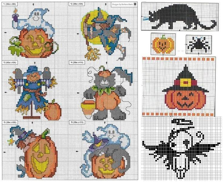 Подборка схем к Хеллоуину, смеха №1