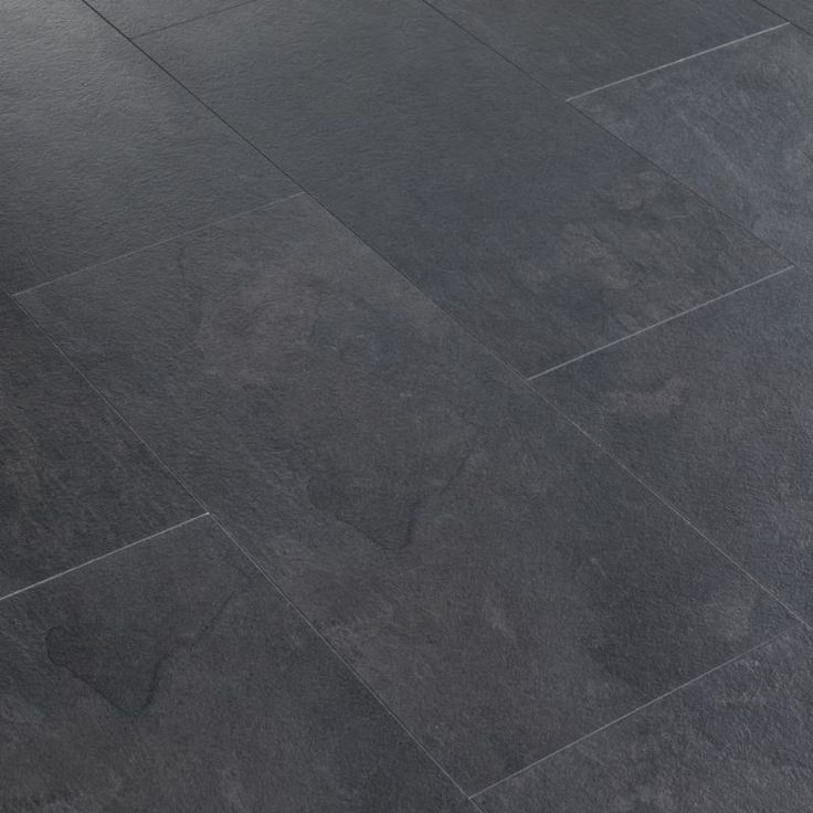 black slate tile floor | Black Slate Tile-Effect Laminate Flooring customer reviews ...