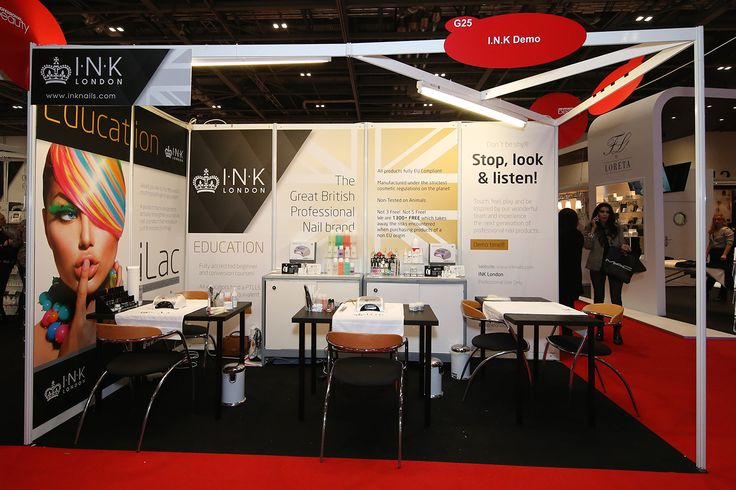 INK Kreative Nails exhibited at Professional Beauty 2016. A standard Shell Scheme space was transformed with great looking graphics!