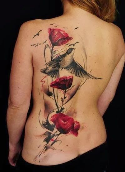 unique back tattoos for girls 2014 bad ass tattoos