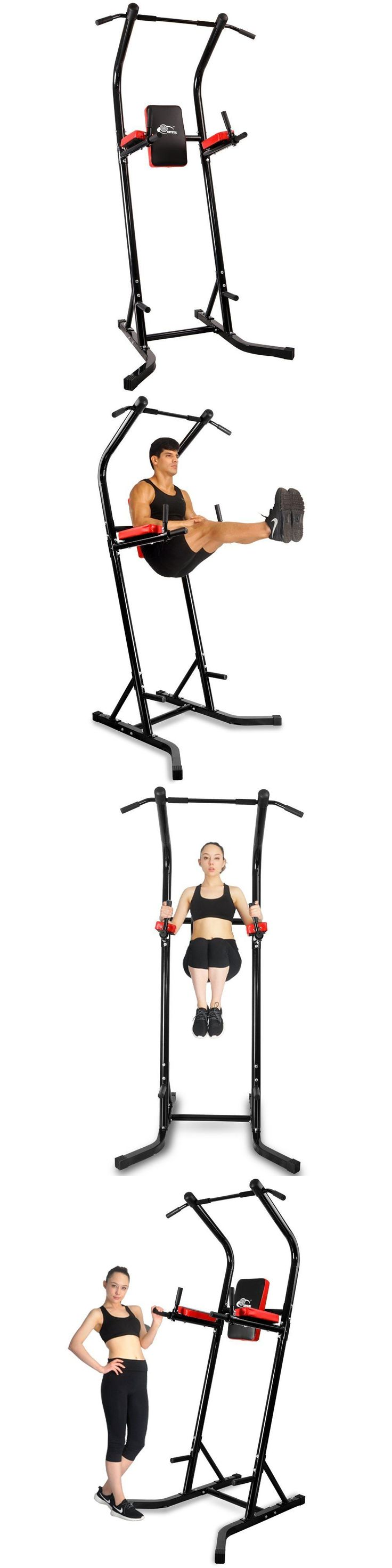 Pull Up Bars 179816: Chin Up Bar Sports Equipment Power Pull Up Bar Tower Standing Dip Station Black -> BUY IT NOW ONLY: $131.04 on eBay!