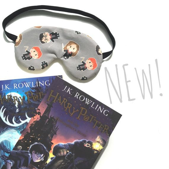 Harry Potter Sleep Eye Mask Sleeping Mask Travel by oddsnblobs