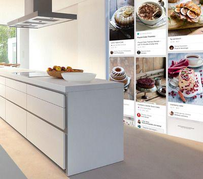DIY receptenmuur: recepten op fotobehang dmv je eigen Pinterest board.