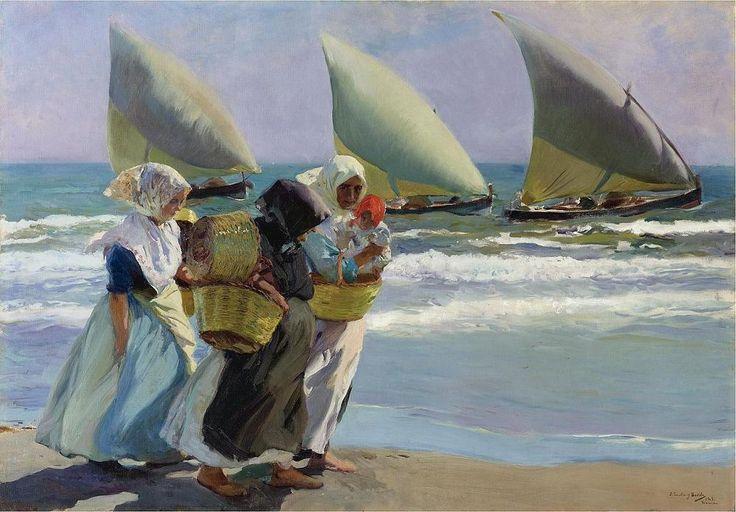 Joaquín Sorolla y Bastida (Spanish, 1863-1923). Las tres velas, 1903