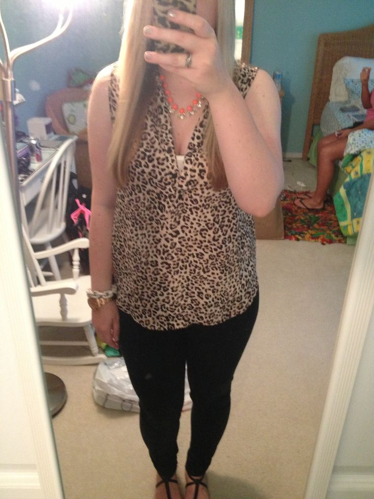 Forever 21 top, jcrew necklace, loft jeggins