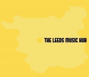 The Leeds Music Hub  Simple typeface standing out against the brightness on the yellow. The shape of Leeds on a map makes it appealing to mature students. clever use of the grain in a record to highlight it is about music, also could be seen as sound waves coming from the centre of leeds with the circle being the hub