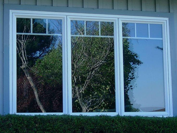 Three Casement Windows With Internal Grids Window