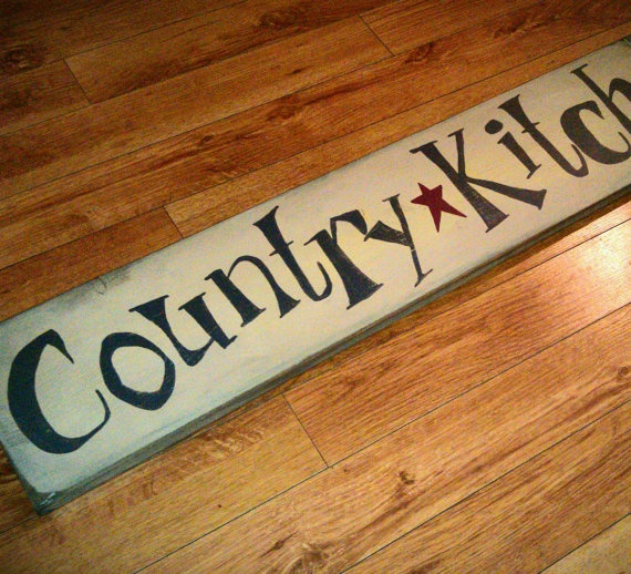 Country Kitchen Rustic Primitive Custom Sign By RusticCharmDesign, $50.00