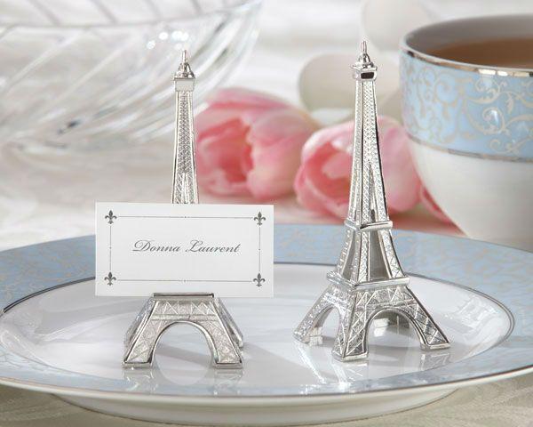 """Decorazioni di nozze"""" sera a parigi"""" torre eiffel argento- finitura segnaposto/bomboniere titolare in vendita-Forniture di attività e serata..."""